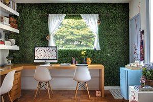 artificial grass wall home office
