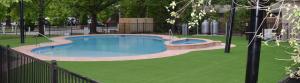 pool side fake grass