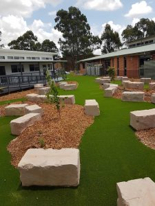 synthetic grass for commercial property