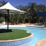 Pool side artificial grass