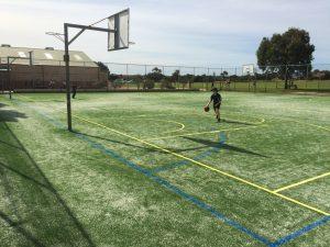 artificial grass for basketball court