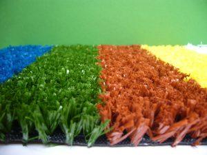 Colored artificial grass