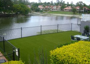 residential artificial grass for waterfront house