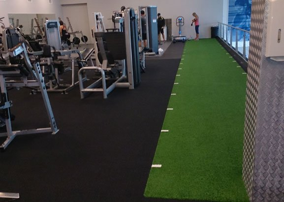 gym artificial short grass