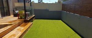 Artificial Grass in courtyard